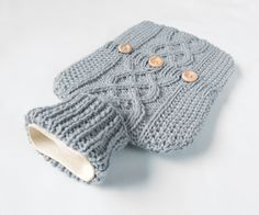 Hot water bottle cover / sweater 100 per cent by ACrookedSixpence