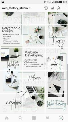 Good way of showcasing the work you do - like showing the website map on insta Instagram Design, Instagram Feed Layout, Feeds Instagram, Instagram Grid, Bg Design, Grid Design, Feed Vsco, Ig Feed Ideas, Organizar Instagram