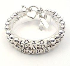 I want one!! Cancer awareness bracelet.