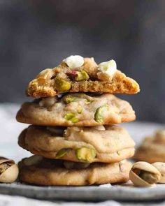 Salted Honey Pistachio Cookies are soft pistachio cookies made extra flavorful with browned butter while sea salt, honey, and salted pistachios really boost up the sweet/salty combo! These are a FANTASTIC, easy cookie recipe! Easy Homemade Cookies, Easy Cookie Recipes, Sweet Recipes, Baking Recipes, Dessert Recipes, Kitchen Recipes, Pistachio Cookies, Pistachio Dessert, Pistachio Recipes
