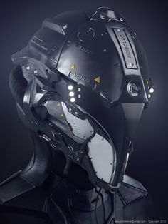 JOJO POST DIGI: HELMET, Cyberpunk, Android, Robot, Futuristic, Sci-Fi, Military, Cyborg, Cabuto, Clothing, Fashion, Future, Armor, Mask. Communication.
