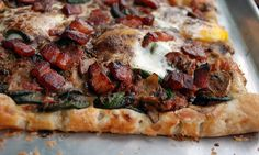 Breakfast Tart with Fiddleheads, Mushrooms, and Bacon. #Recipes