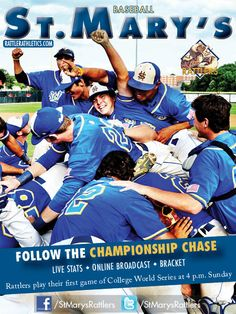 The @StMarysRattlers made the 2012 D-II College World Series in Cary, N.C., after winning the Heartland Conference and South Central Regional titles.