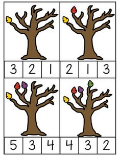 Fall Counting Clip Cards 0-10