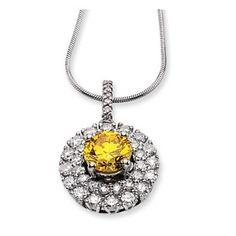 14kw Emma Grace Round Cultured Diamond 16in Pendant  $8,287.66