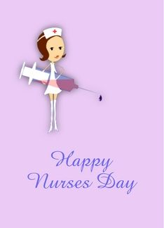 Happy nurses day vet nurse cat wearing eye patch greeting card http happy nurses day with nurse holding syringe customizable text greeting card m4hsunfo Image collections
