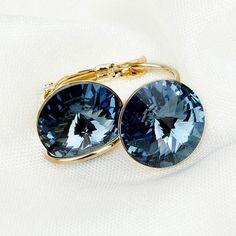 Women Mix Color Drop Earring Australia Crystal Gold-Color Dangle Earrings