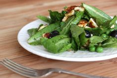 This inspired me to try Halloumi cheese, now trendy and readily available (even at TJ's!).  My version is baby spring greens, halloumi diced and lightly toasted in a dry pan, with pecans, blueberries, and balsamic dressing - salty, sweet, tangy, and fresh.   BEST.  SALAD.  EVER.