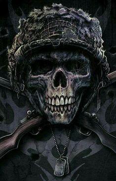 Skull by Christopher Lovell Skull Tattoos, Body Art Tattoos, Grim Reaper Art, Rock Poster, Totenkopf Tattoos, Skull Pictures, Military Tattoos, Skull Artwork, Skull Wallpaper