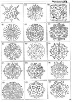 blog DD: crochet patterns  Tons and tons of graph patterns