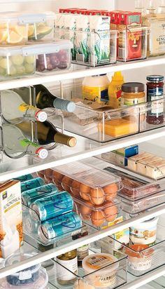 Plastic Refrigerator Dividers: Okay, so this isn't exactly your pantry… but your fridge needs some love too! Spruce up your overcrowded fridge or pantry with simple, clean plastic bins that still let you clearly see what you have in stock.