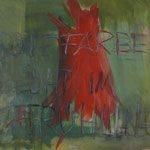Rote Farbe blüht Mischtechnik 70x100 Outdoor Decor, Painting, Art, Red Paint, Painting Art, Photo Illustration, Art Background, Paintings, Kunst