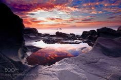 A mirror on the beach rock Sagye by ykd001 #nature #travel #traveling #vacation #visiting #trip #holiday #tourism #tourist #photooftheday #amazing #picoftheday