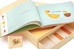 Deluxe Baby Book with Memory Box by petit collage