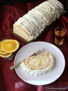 Tort Diplomat (rulada clasica) Romanian Desserts, Romanian Food, Sweets Recipes, Cookie Recipes, Swiss Roll Cakes, Good Food, Yummy Food, Delicious Recipes, French Patisserie