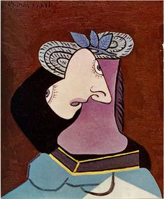Woman in a Straw Hat, 1936, Pablo Picasso Size: 61x50 cm Medium: oil on canvas