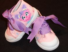 Abby Cadabby Pink High Top Hand Painted Shoes by tickledtoes, $36.00