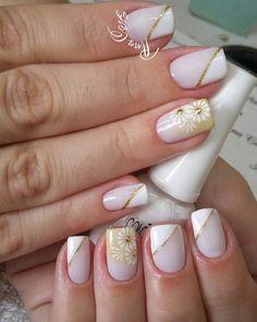 69 Modelos de Unhas Francesinhas Gelish Nails, My Nails, Queen Nails, Toe Nail Designs, Bridal Nails, Body Love, Nail Arts, Manicure And Pedicure, How To Do Nails