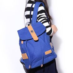 Backpacks for Boys and Girls Four Color Available Fresh Style Flap Pocket Waterproof Canvas