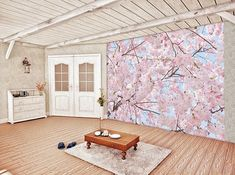 Brighten any room with the freshness of cherry blossoms when you hang the Ideal Decor Pink Blossoms Wall Mural. The pastel blossoms and blue sky are captured in this photographic image that brings the beauty of nature to your home. Japan Spring, Pink Blossom, Cherry Blossoms, Aarhus, Wallpaper Roll, Brick Wall, The Fresh, Pretty In Pink, Wall Murals