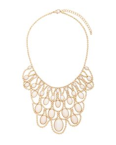 Chandelier Bib Necklace - would be nice with a simple white dress