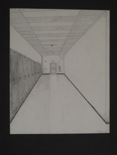 hallway vanishing point. i like the perspective and use of a vanishing point hallway project intro to art brett burbrink freshman