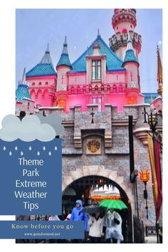 Tips and tricks for when you get caught in the rain on your theme park   vacation. Proven advice to help you carry on even in the biggest   downpour. Read this before you head to Disney World, Universal Orlando,   or even Disneyland.