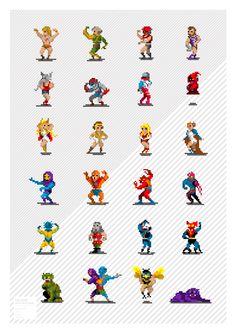 Pixel Art Characters on Behance