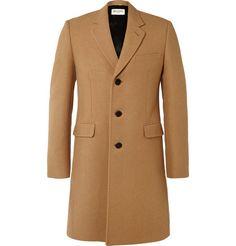 Saint LaurentSlim-Fit Camel Chesterfield Coat