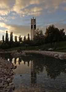 #BYU Brigham Young University carillon (bell) tower. However you spell it. The bells player played the Harry Potter theme when the last movie premiered. This creek runs through campus.