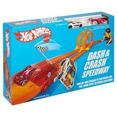 Collectors will remember it from yesteryear and kids of today will love it. The classic Hot Wheels Dash & Crash play set is back, complete with awesome retro-style packaging! Send two Hot Wheels cars racing through epic loops to end in an epic grand finale finish! Each set sold separately, subject to availability. Colors and decorations may vary. For ages 4 and up.<br><br>Features:<br>• Nostalgic Dash & Crash track set that collectors and kids are sure to l...
