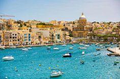 bay near Valletta in Malta https://www.holidayfactors.com/malta/