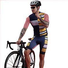 Bike Clothing, Outdoor Workouts, Spandex, Cycling Bikes, Cycling Outfit, Summer Shorts, Triathlon, Mountain Biking, Blue Stripes