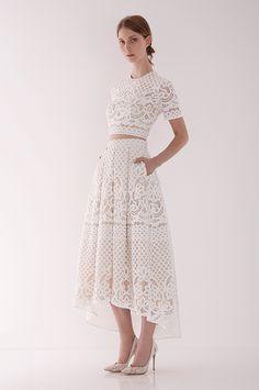 Lover White Magick Libra Crop and Midi Skirt