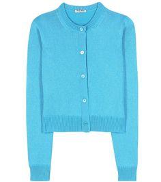 MIU MIU Metallic Cashmere-Blend Cardigan. #miumiu #cloth #cardigan
