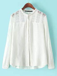 Wholesale Global hot sale pure color hollow out cotton blouse BD-X7301 - Lovely Fashion