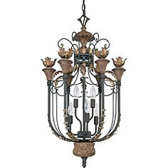 @Overstock - Bring formal elegance to your home with this stately cage pendant light. Inspired by traditional and country French styles, this hanging fixture features six bulbs that emanate brilliant illumination while ensconced in a gilded cage frame. http://www.overstock.com/Home-Garden/Verdone-Pendant-6-light-Gilded-Cage-Finish/6579127/product.html?CID=214117 $199.99