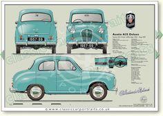 Austin Cars, Car Prints, Car Brochure, Classic Mercedes, Car Advertising, Car Drawings, Small Cars, Classic Cars, Art Cars