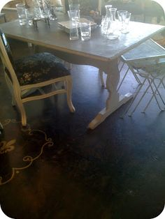 Diy striped kitchen table from 5 goodwill find things i made diy kitchen table makeover part two workwithnaturefo