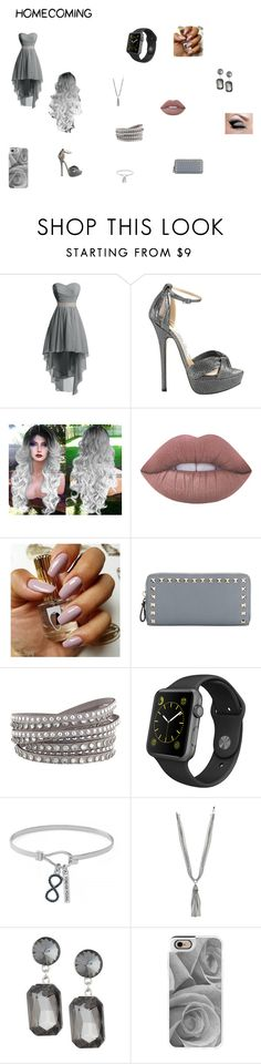 """""""homecoming"""" by ravenclaw-13 on Polyvore featuring Jimmy Choo, Lime Crime, Valentino, Apple, BCBGeneration, Kenneth Jay Lane, Casetify and Homecoming"""