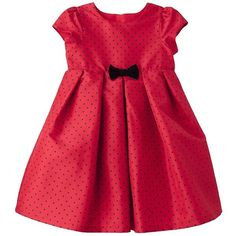 Just One You made by Carter's Infant Toddler Girls' Dress Red/Black (235 MXN) ❤ liked on Polyvore featuring baby, baby girl, baby girl clothes, kids and babies.