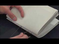 Elaboración costura de libro - YouTube