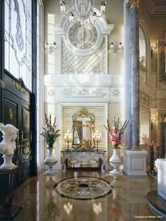 Luxury Villa Interior Qatar By Muhammad Taher Via Behance