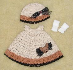 "Thread Crochet Dress, Hat & Socks fits 8"" Tiny Betsy McCall Dolls #1059 #ClothingAccessories"