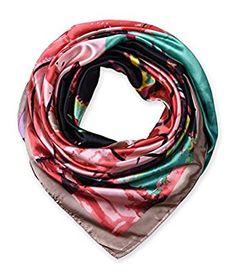 "corciova Women's Neckerchief Large Square Silk Like Scarf Headdress 35""x35"" Pale Taupe $9.99 Free Shipping"