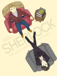 Sherlock fan art. I still ship John and Sherlock.