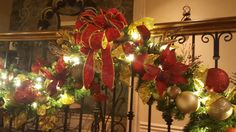 Newly decorated garlands for interior railings.