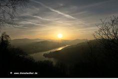Diemelwalker: Sonnenuntergang am Diemelsee