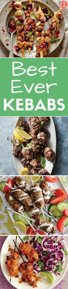 Shish kebab is a classic skewered and grilled dinner. Each of these kebab recipes features a tasty combo that really pleases. Slide pieces of meat and Summer Grilling Recipes, Grilling Gifts, Healthy Summer Recipes, Healthy Meals, Healthy Life, Healthy Food, Healthy Eating, Kebab Recipes, Salmon Recipes