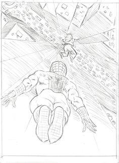 The Amazing Spiderman!, Jeffrey Meadows The Amazing Spiderman! Spiderman Sketches, Spiderman Drawing, Avengers Drawings, Drawing Superheroes, Spiderman Art, Amazing Spiderman, Superhero Sketches, Anime Drawings Sketches, Cool Art Drawings